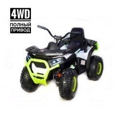 Электроквадроцикл XMX607 Т007МР 4WD белый (полный привод, колеса резина, кресло кожа, музыка)