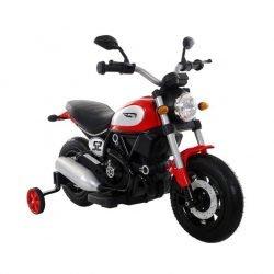 Детский мотоцикл Qike Чоппер QK-307 красный (колеса резина, кресло кожа, ручка газа)